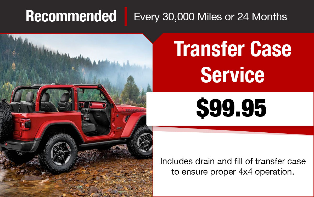 Chrysler Jeep Dodge Ram Transfer Case Service Special Coupon