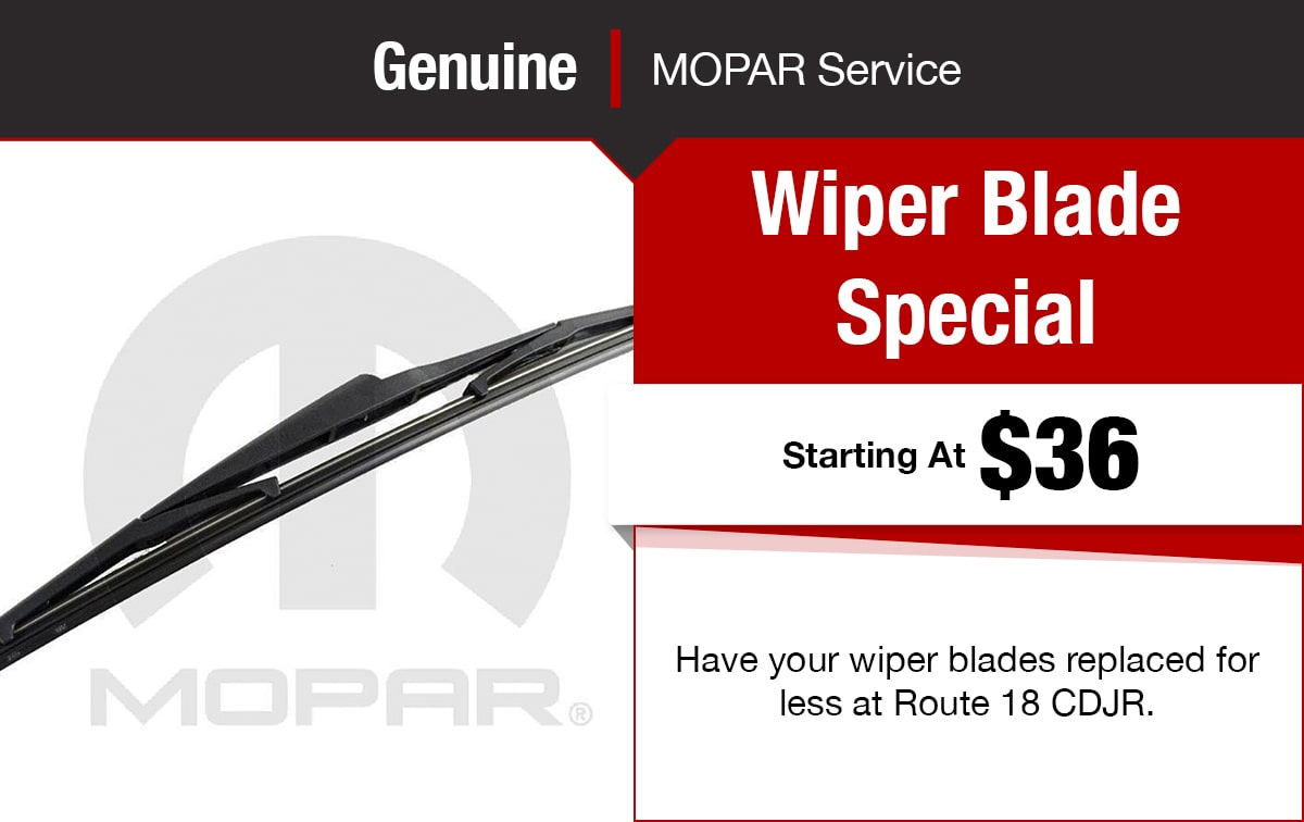 Chrysler Jeep Dodge Ram Wiper Blade Service Special Coupon