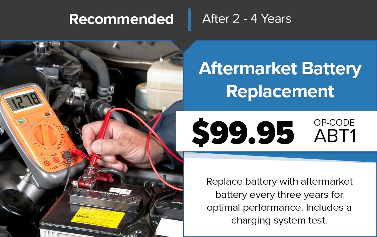 Chrysler Dodge Jeep Ram Aftermarket Battery Replacement Service Special Coupon