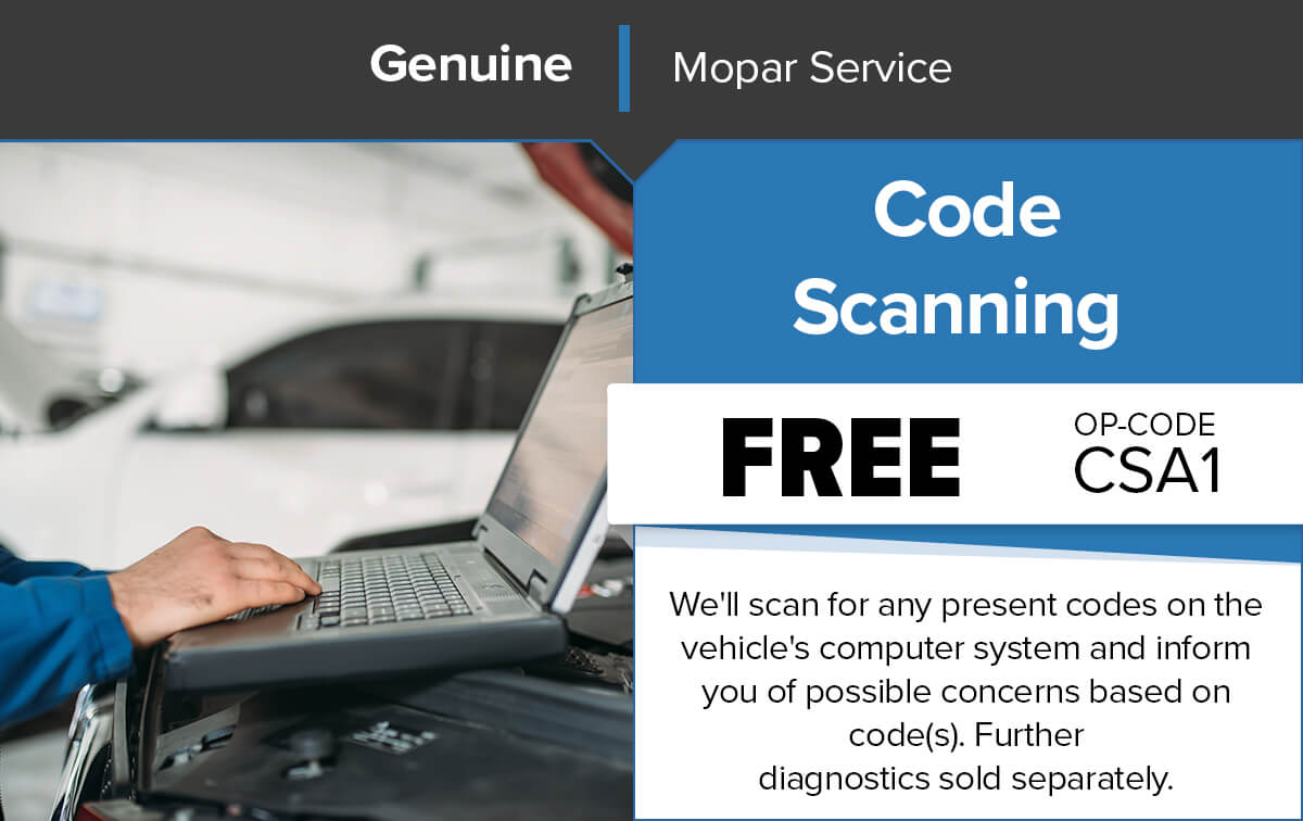 Chrysler Dodge Jeep Ram Code Scanning Service Special Coupon