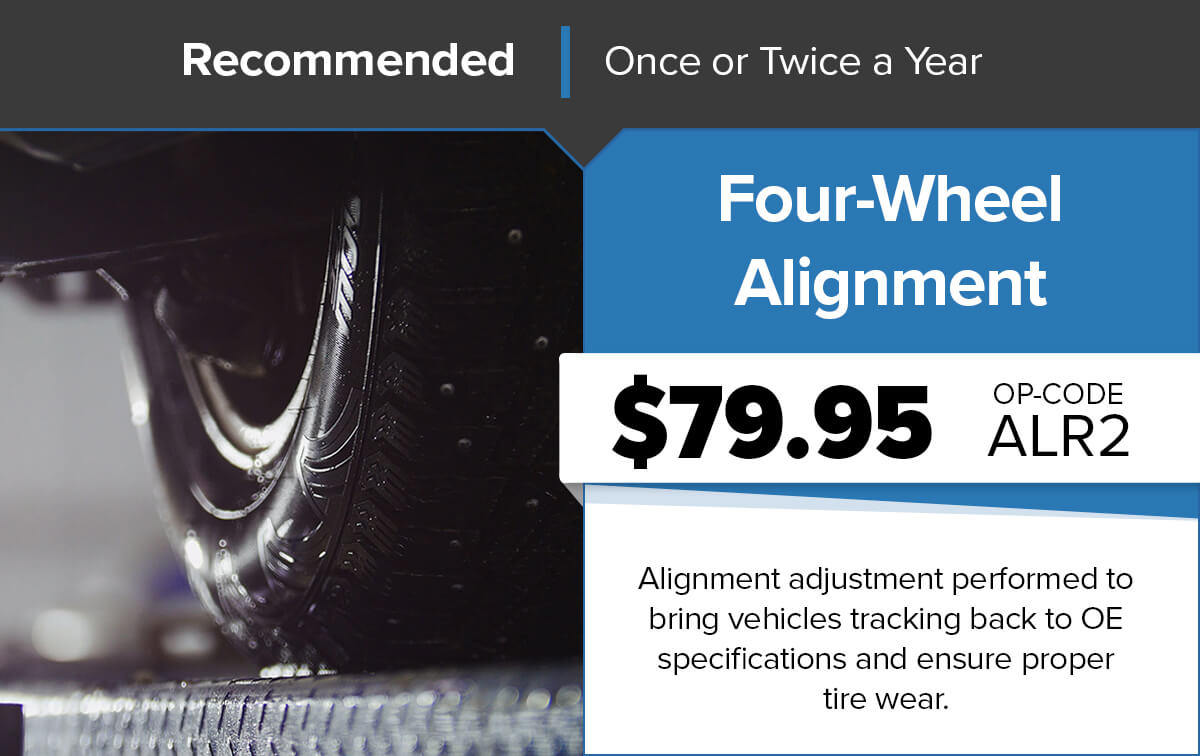 Chrysler Dodge Jeep Ram Four-Wheel Alignment Service Special Coupon