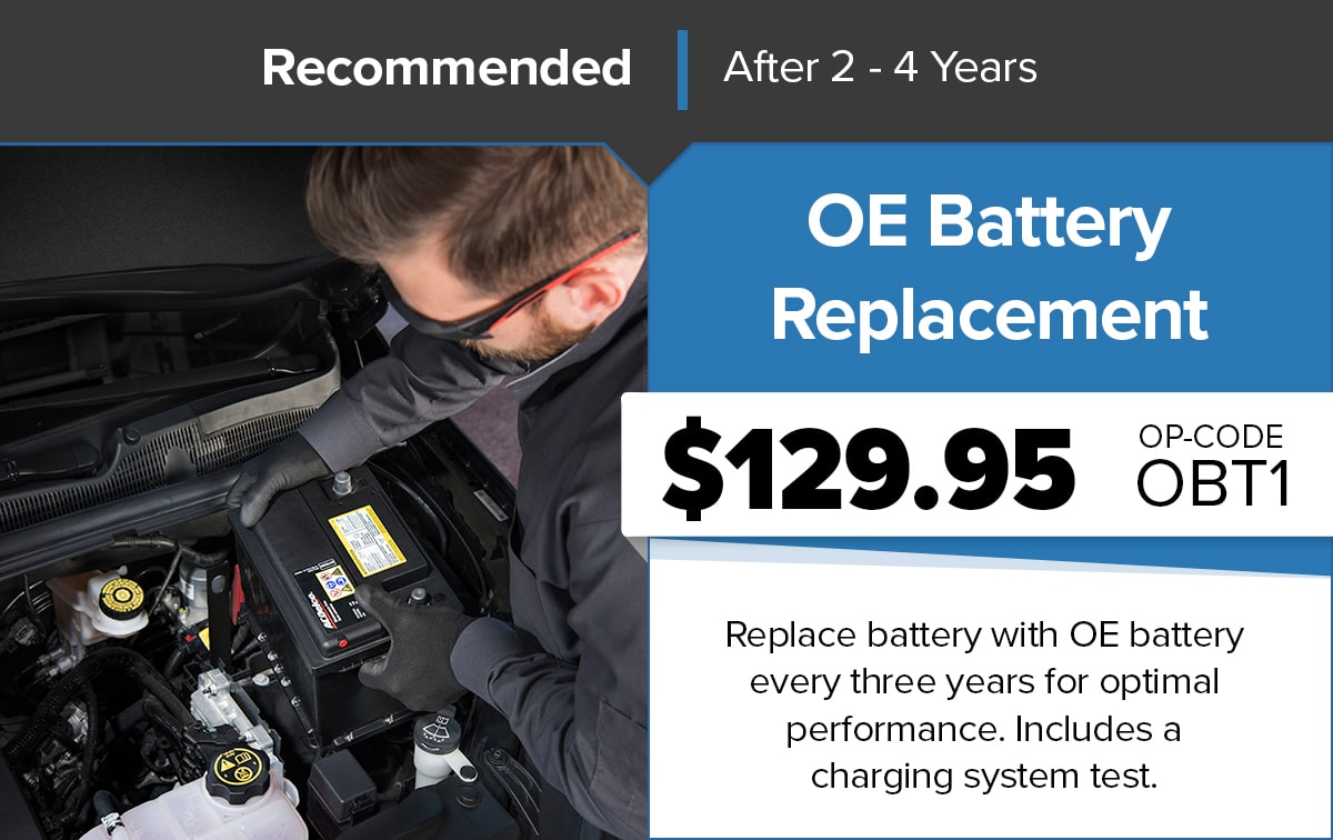 Chrysler Dodge Jeep Ram OE Battery Replacement Service Special Coupon