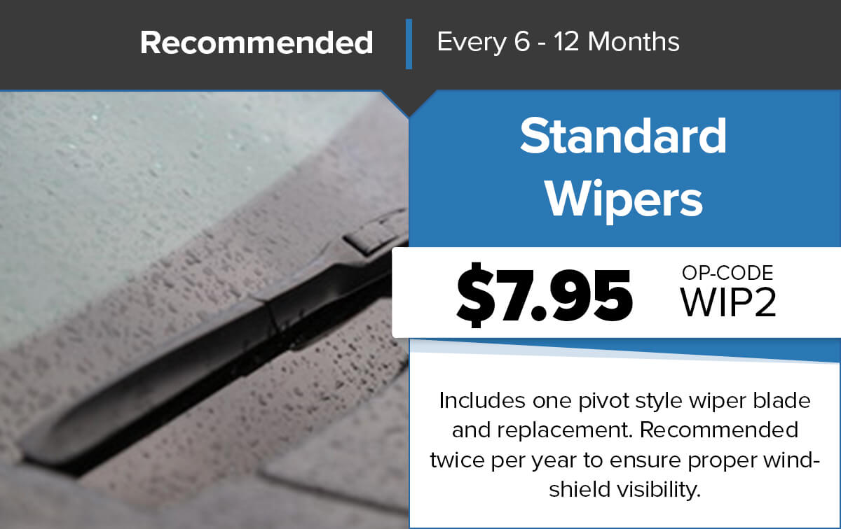 Chrysler Dodge Jeep Ram Standard Wipers Service Special Coupon