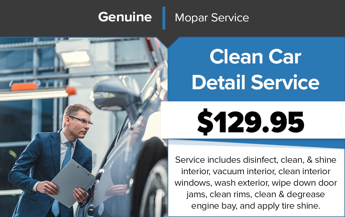 Chrysler Dodge Jeep Ram Clean Car Detail Service Special Coupon