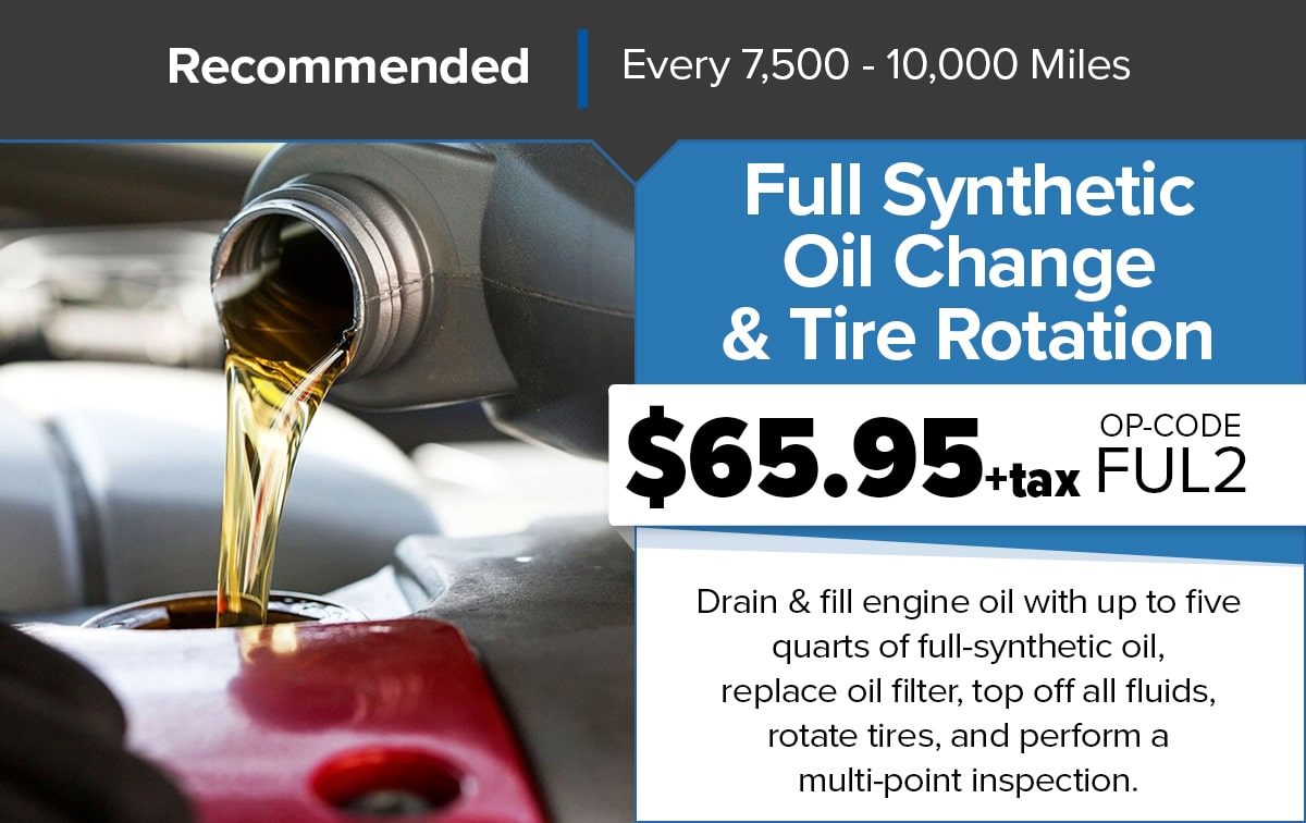 Chrysler Dodge Jeep Ram Full Synthetic Oil Change Service Special Coupon