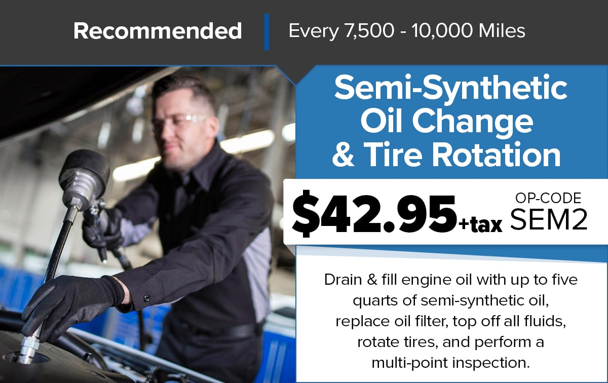 Chrysler Dodge Jeep Ram Semi-Synthetic Oil Change Service Special Coupon