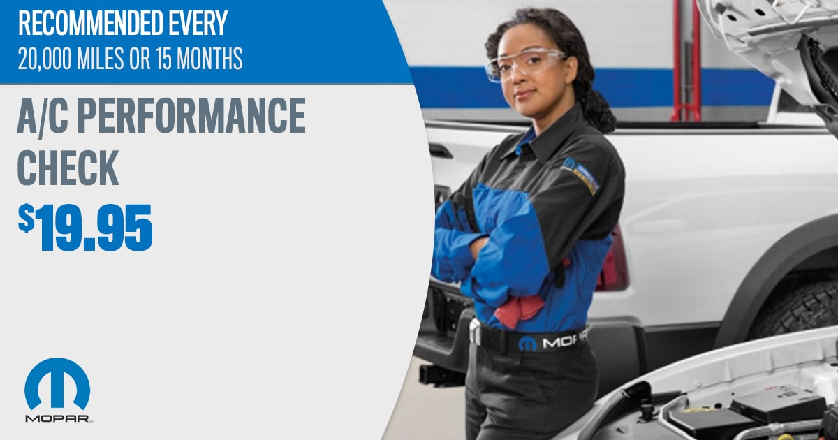 CDJR A/C Performance Check Service Special Coupon