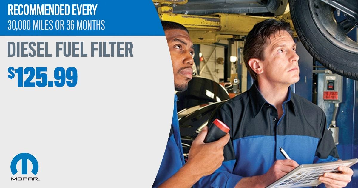 CDJR Diesel Fuel Filter Service Special Coupon