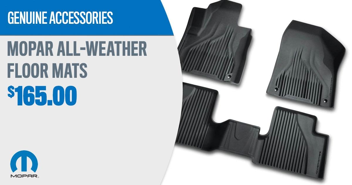 CDJR Mopar All-Weather Floormats Accessory Service Special Coupon