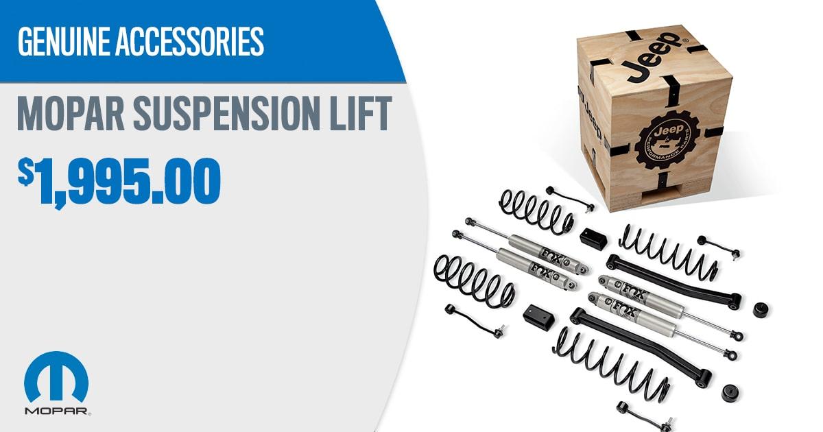 CDJR Mopar Suspension Lift Accessory Service Special Coupon