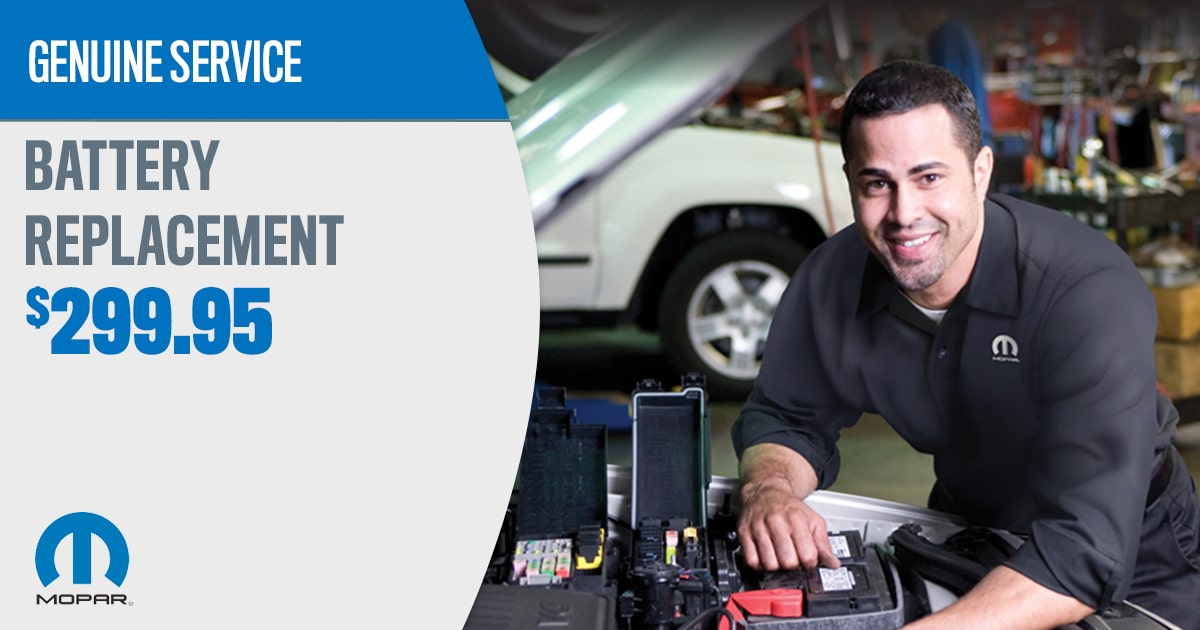 CDJR Battery Replacement Service Special Coupon
