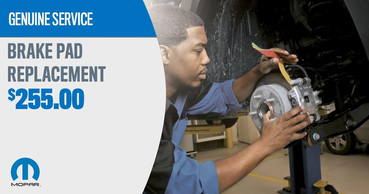 CDJR Brake Pad Replacement Service Special Coupon