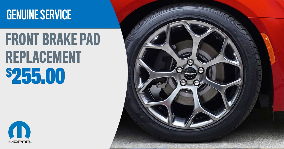 CDJR Front Brake Pad Replacement Service Special Coupon