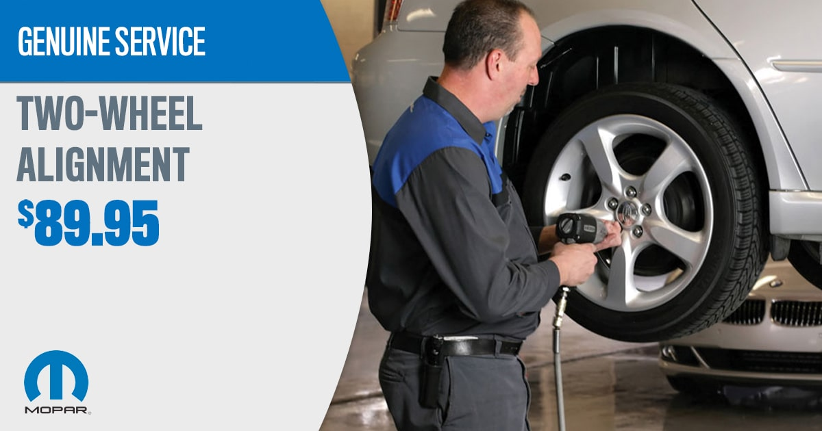 CDJR Two-Wheel Alignment Service Special Coupon