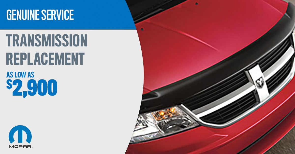 CDJR Transmission Replacement Service Special Coupon