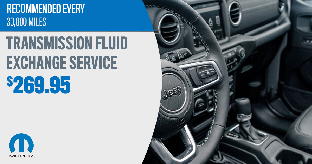 Mopar Transmission Fluid Exchange Service Special Coupons
