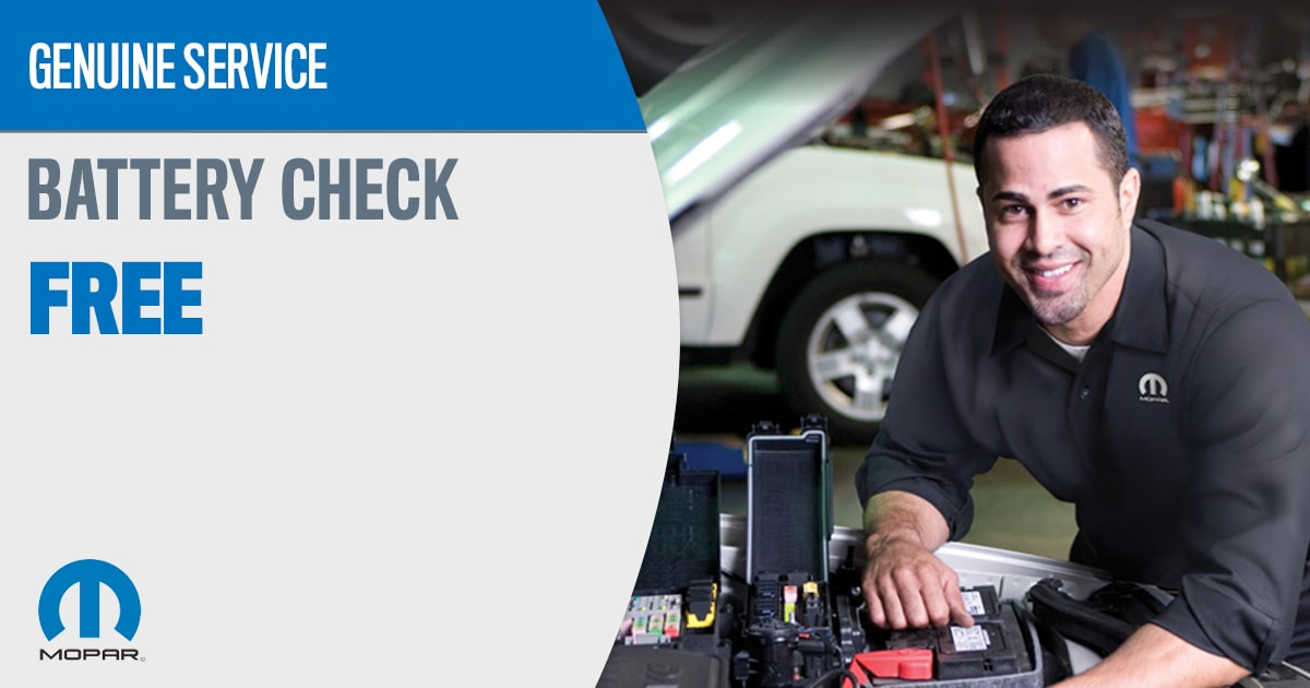 Mopar Battery Check Service Special Coupons