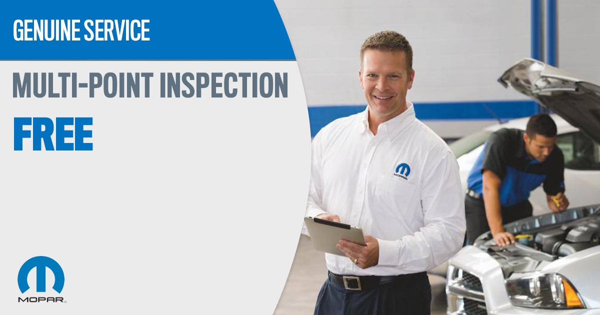 Mopar Multi-Point Inspection Service Special Coupons