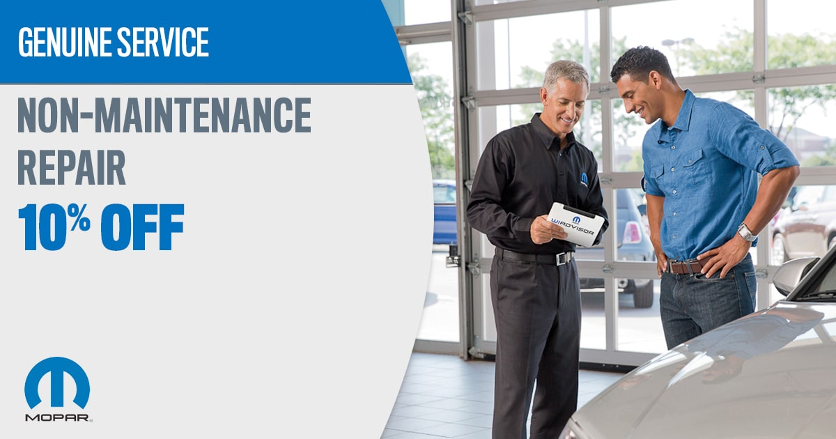 Mopar Maintenance Repair Service Special Coupons