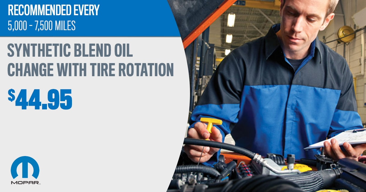 Mopar Tire Rotation Service Special Coupons