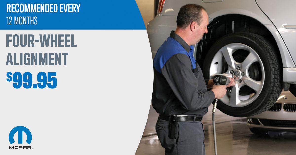Mopar Wheel Alignment Service Special Coupons