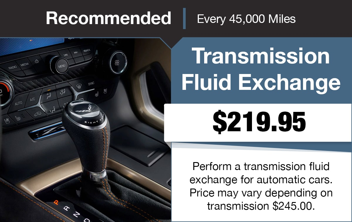 Chevrolet Transmission Fluid Exchange Service Special Coupon