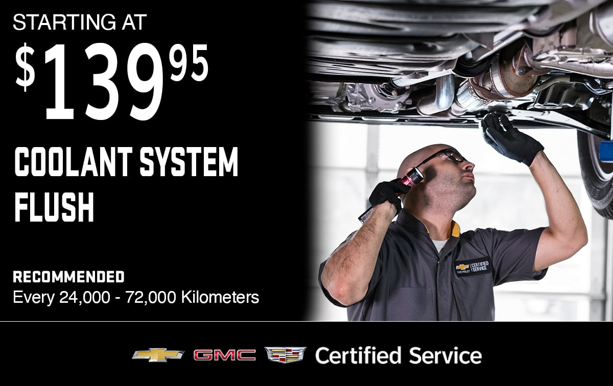 Chevrolet Buick GMC Coolant System Flush Service Special Coupon