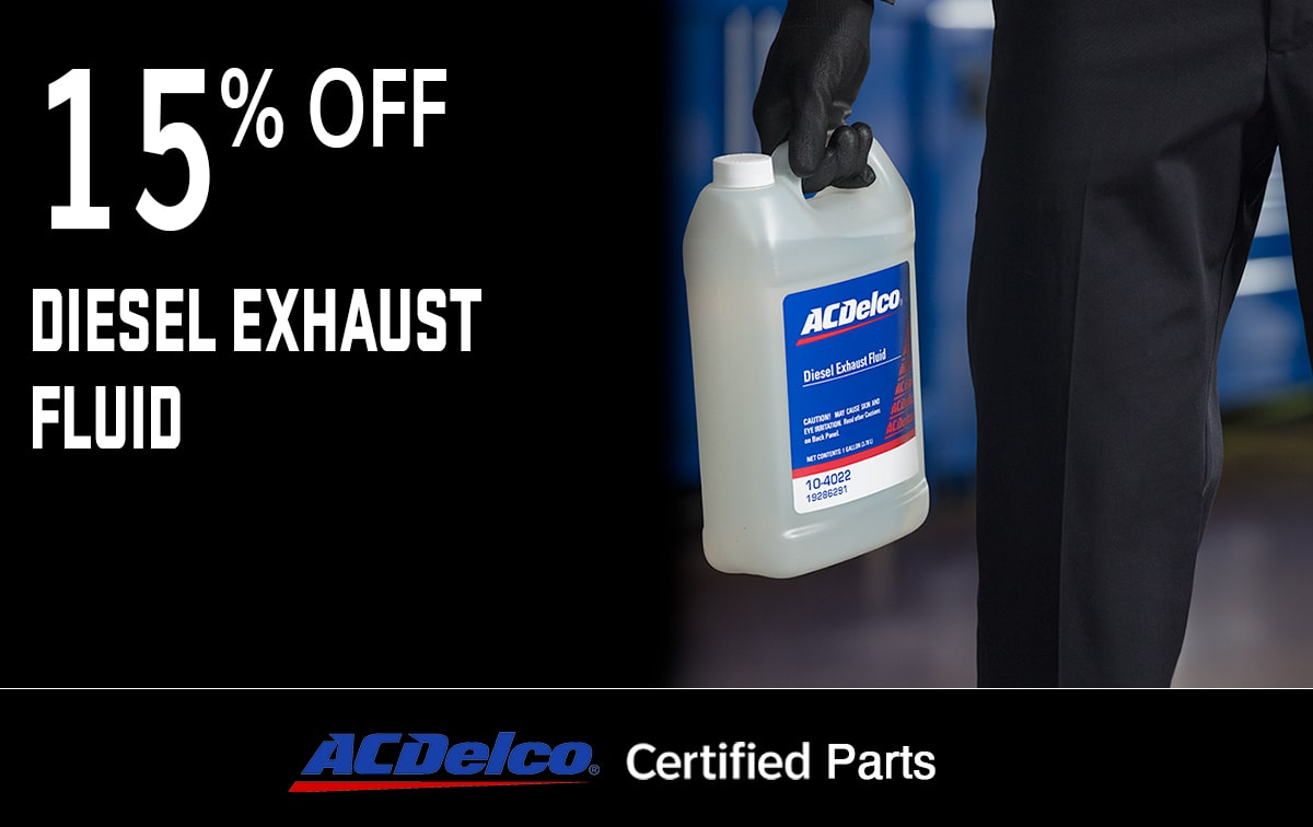 Chevrolet Buick GMC Diesel Exhaust Fluid Service Special Coupon