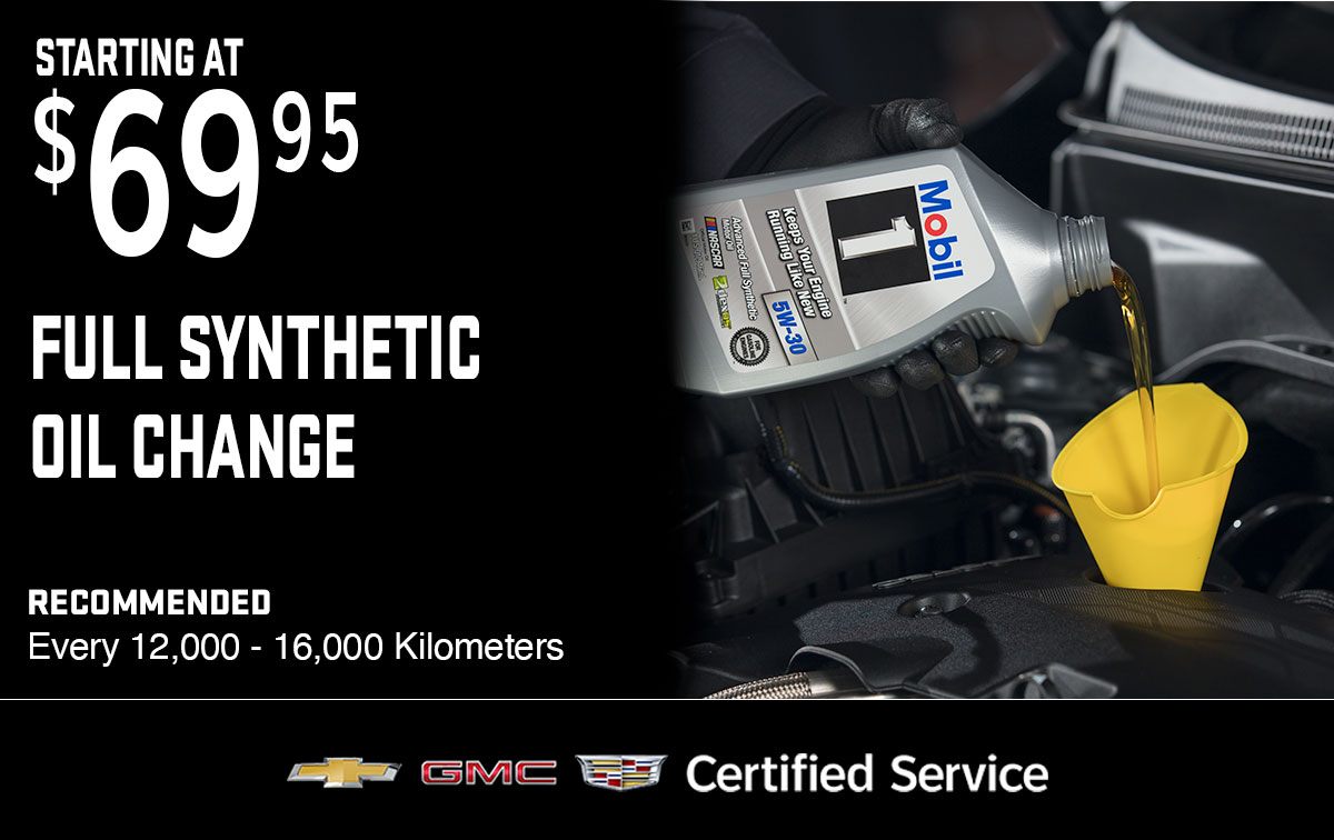 Chevrolet Buick GMC Full Synthetic Oil Change Service Special Coupon