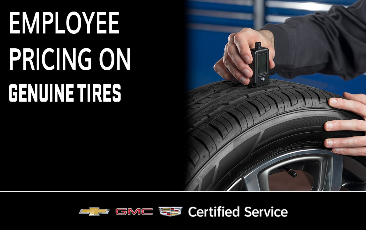 Chevrolet Buick GMC Genuine Tires Service Special Coupon