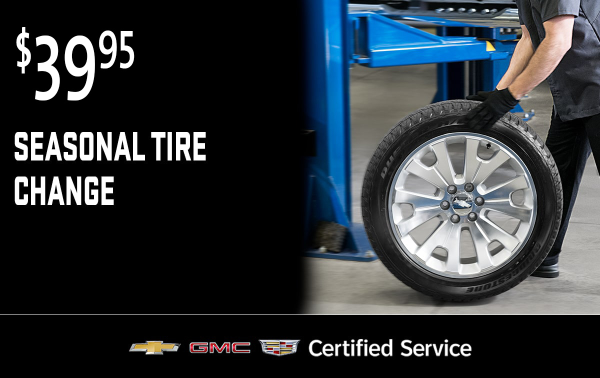 Chevrolet Buick GMC Seasonal Tire Change Service Special Coupon