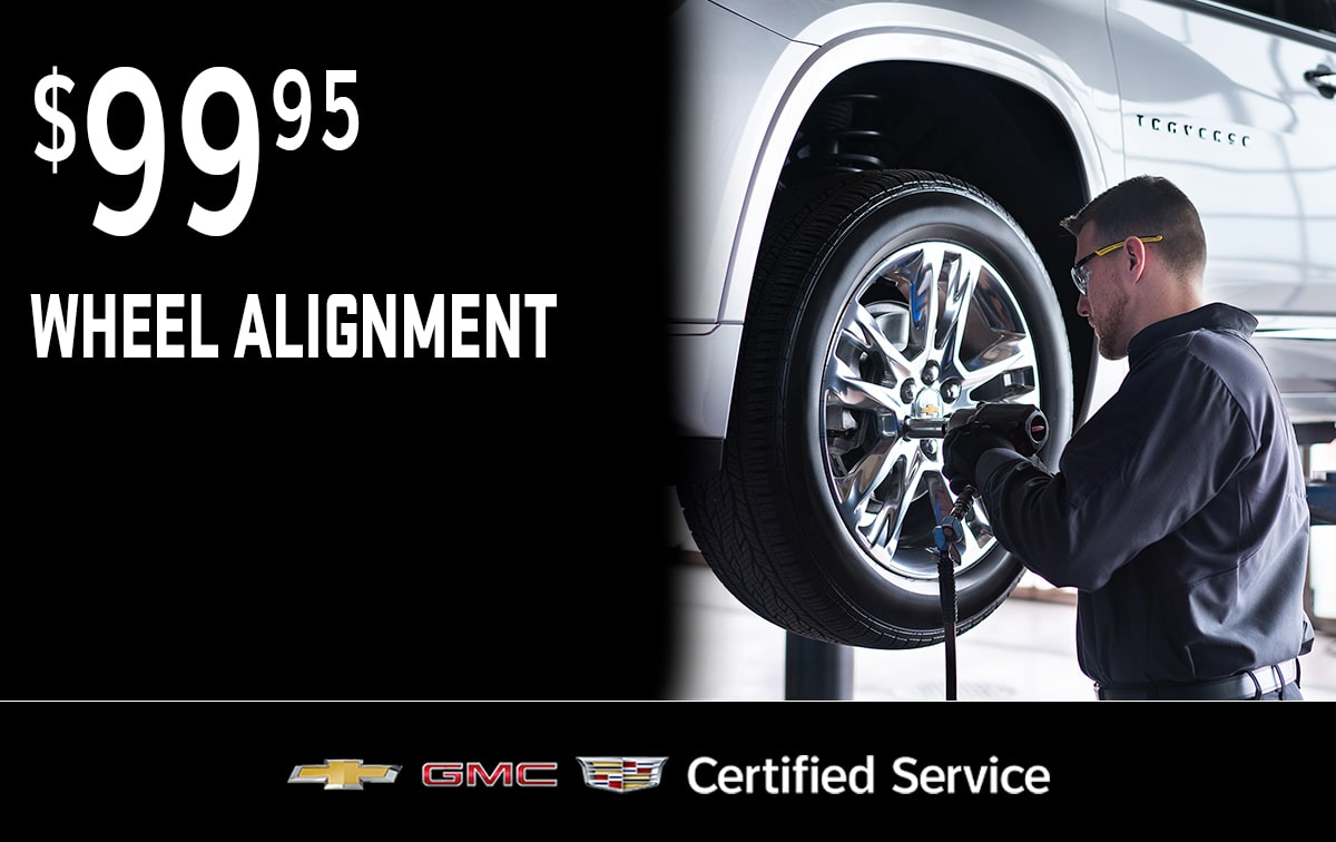 Chevrolet Buick GMC Wheel Alignment Service Special Coupon