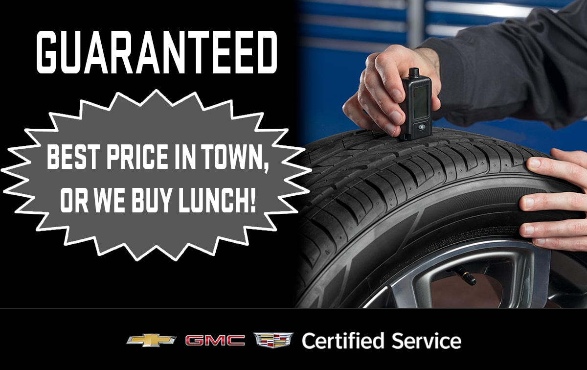Chevrolet Buick GMC Tire Price Match Special Coupon