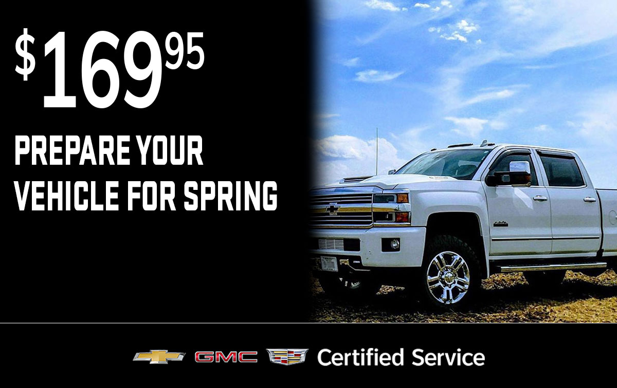 Chevrolet Buick GMC Spring Preparation Service Special Coupon
