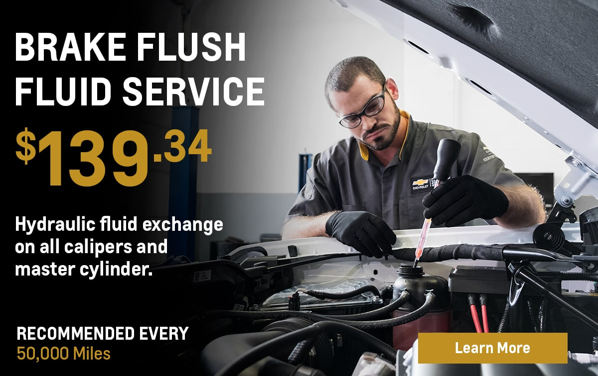 Chevrolet Brake Fluid Exchange Service Special Coupon
