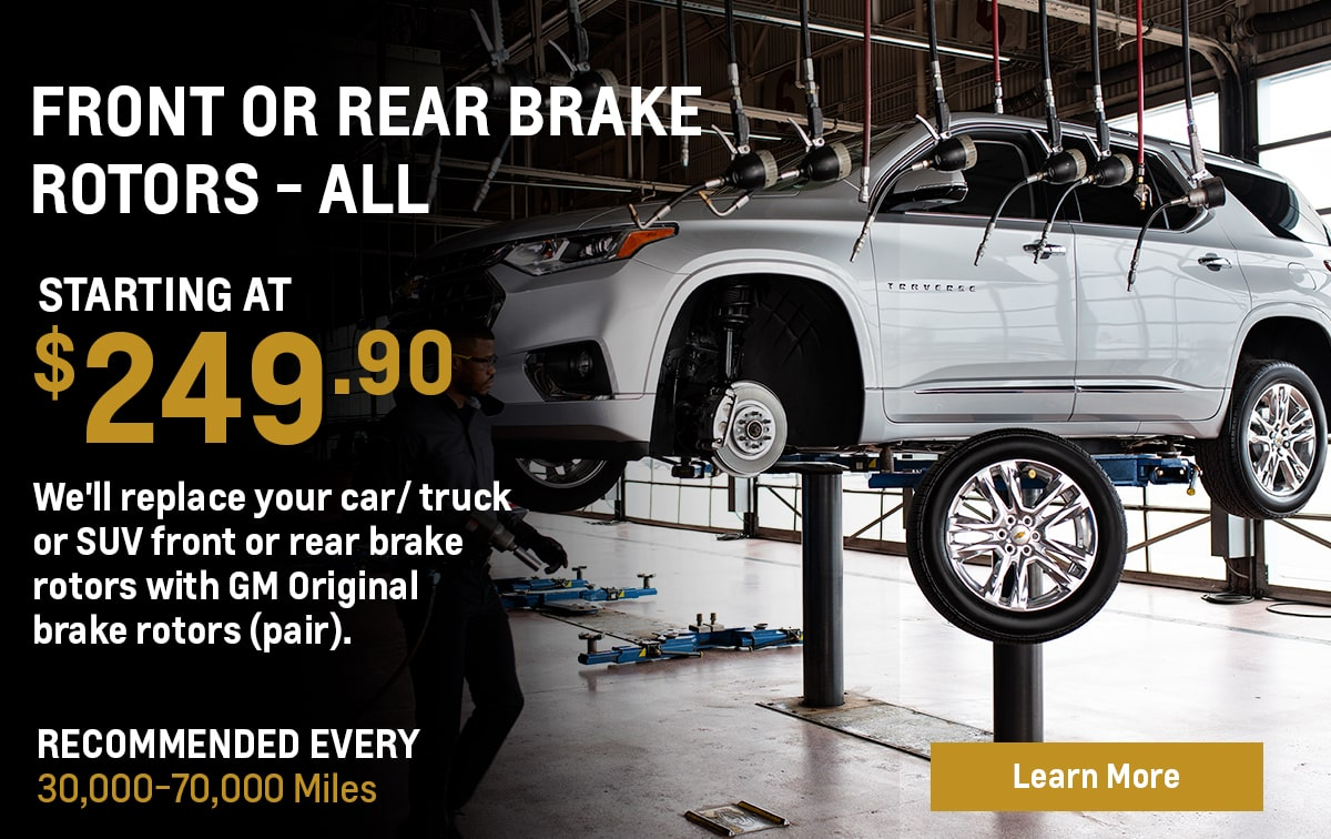Chevrolet Front or Rear Brake Rotor Replacement - ALL Service Special Coupon