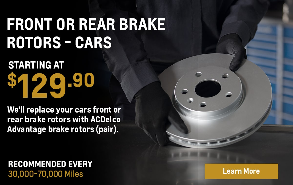 Chevrolet Front or Rear Brake Rotor Replacement - Cars Service Special Coupon