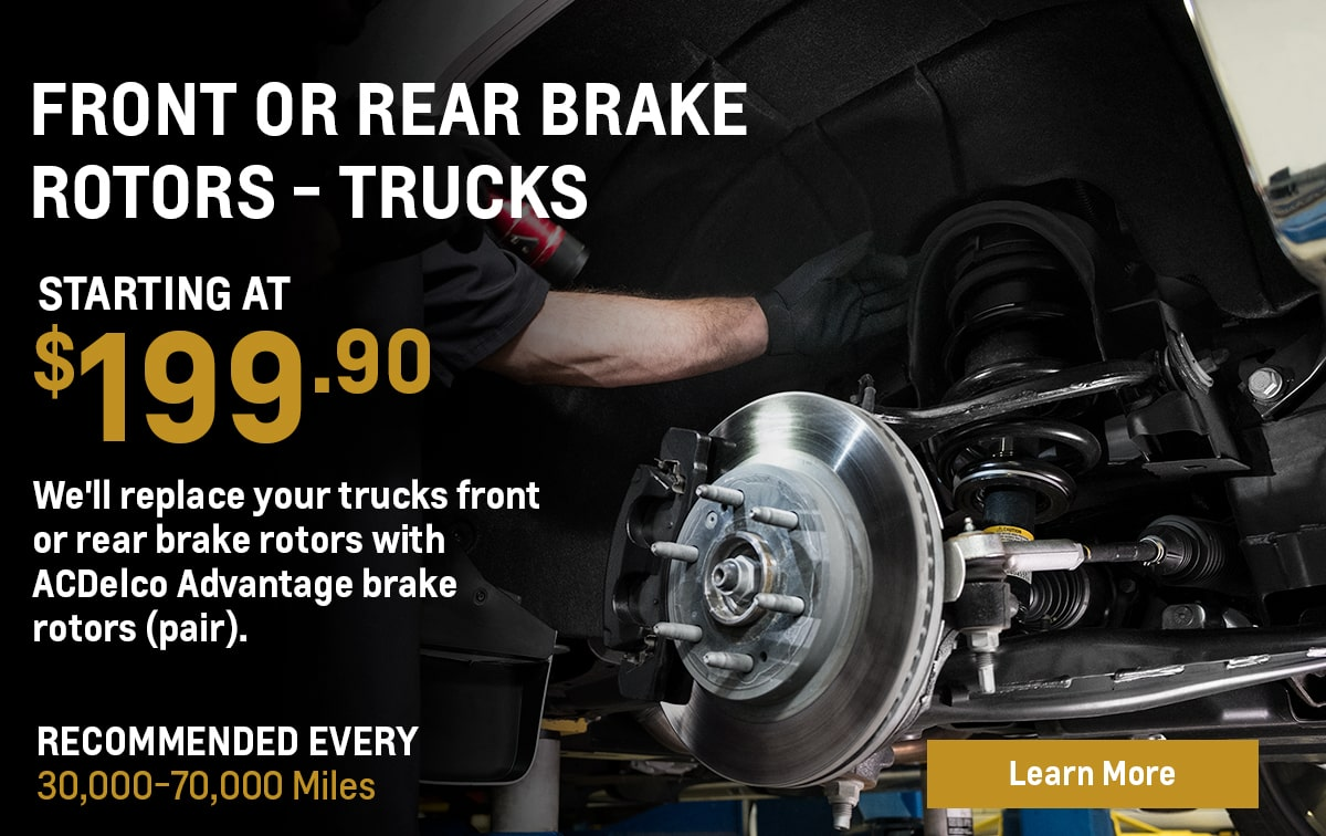 Chevrolet Front or Rear Brake Rotor Replacement - Trucks Service Special Coupon