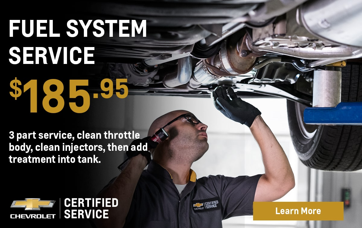 Chevrolet Fuel System Service Special Coupon