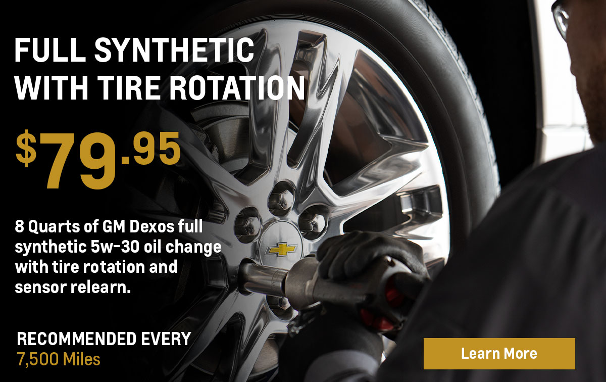 Chevrolet Full Synthetic with Tire Rotation Service Special Coupon