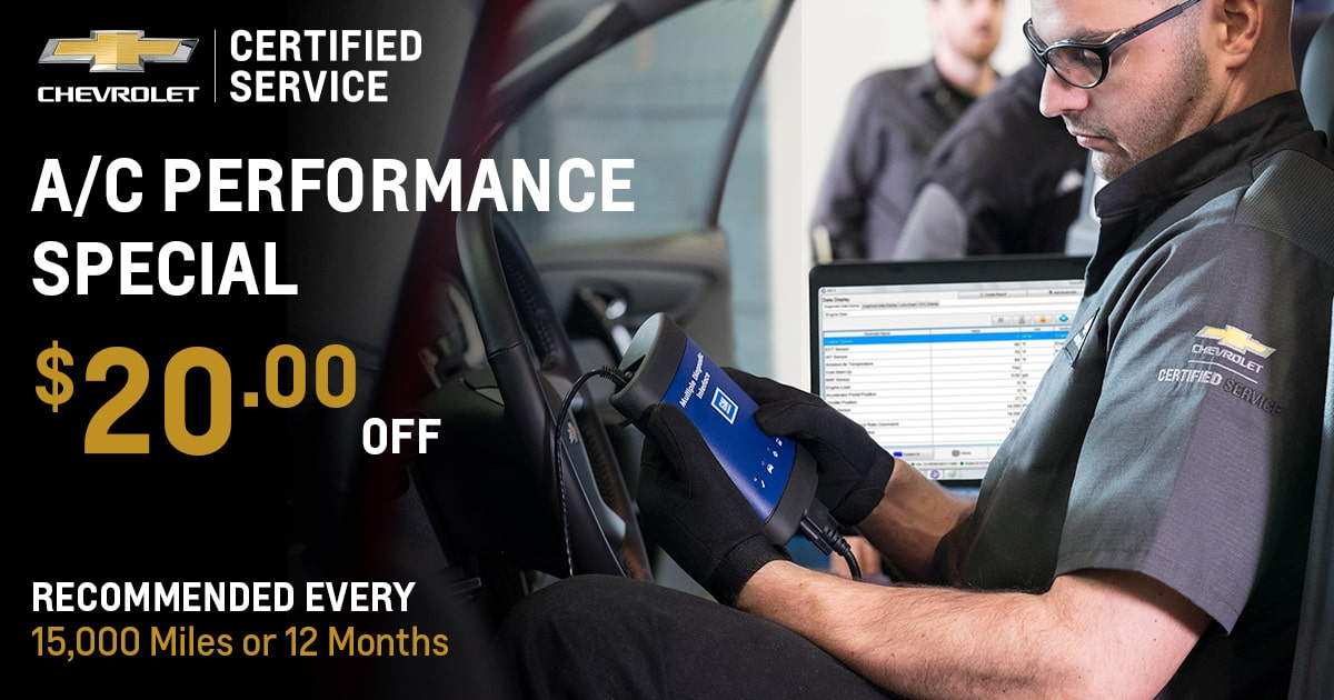 Chevrolet A/C Performance Service Special Coupon