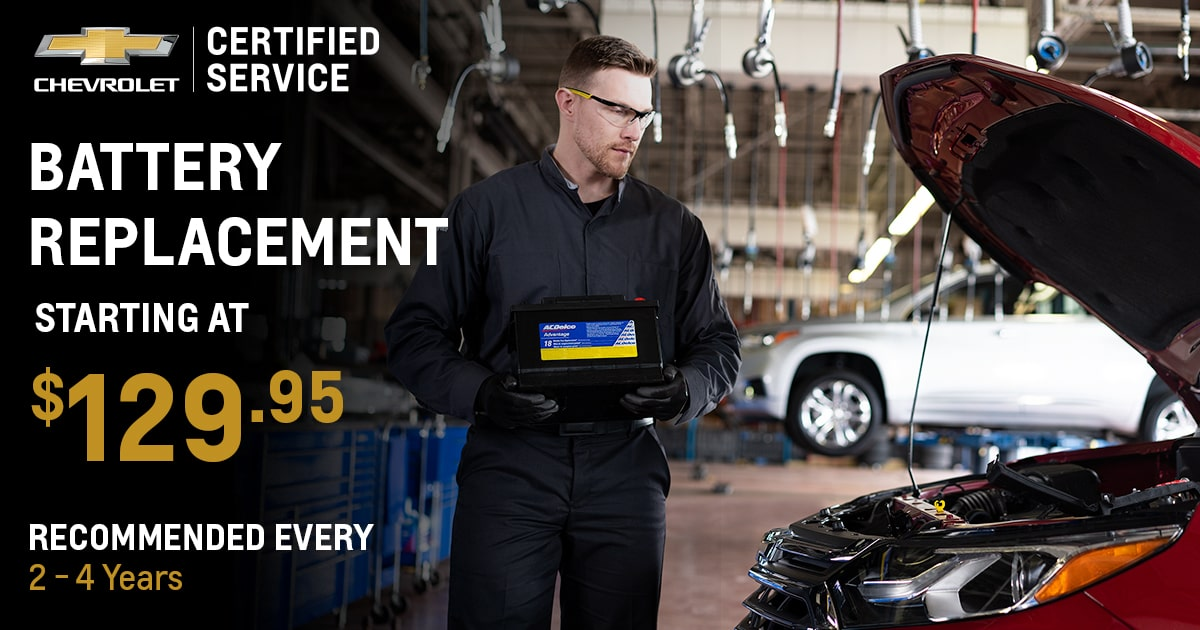 Chevrolet Battery Replacement Service Special Coupon