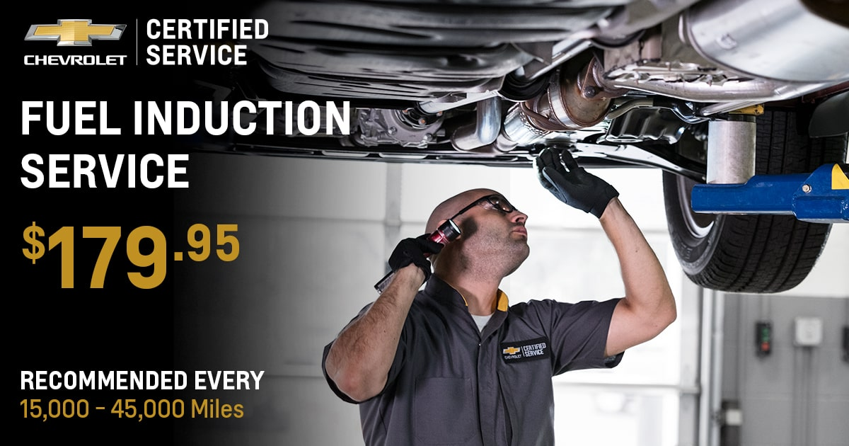 Chevrolet Fuel Induction Service Service Special Coupon