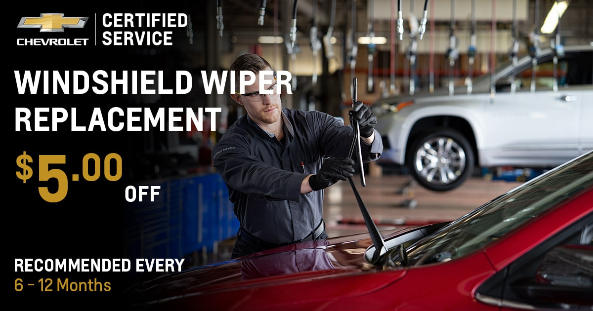 Chevrolet Windshield Wiper Replacement Service Special Coupon