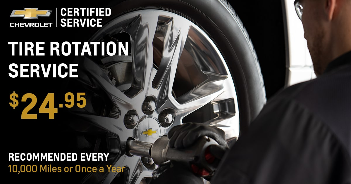 Chevrolet Tire Rotation Service Special Coupon