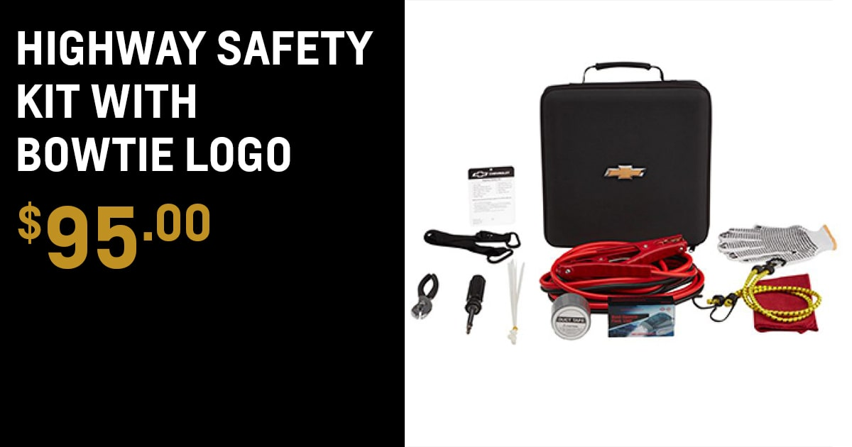 Chevrolet Highway Safety Kit with Bowtie Logo Accessory Special Coupon