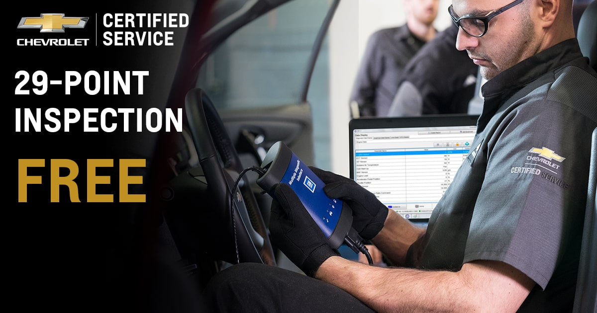 Chevrolet 29-Point Inspection Service Special Coupon
