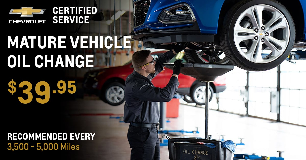 Chevrolet Mature Vehicle Oil Change Service Special Coupon