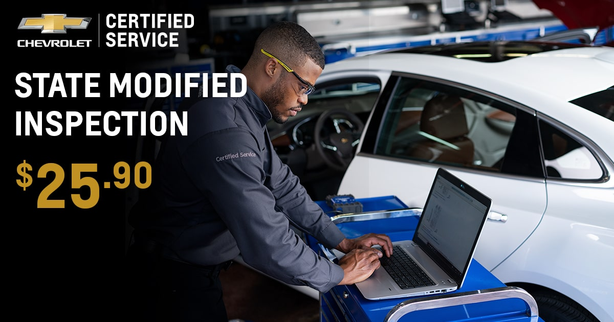 Chevrolet State Modified Inspection Service Special Coupon