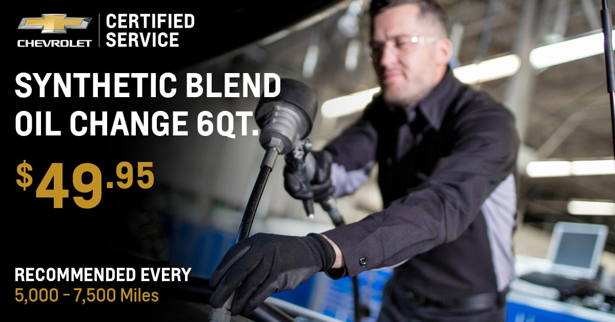 Chevrolet Synthetic Blend Oil Change 6Qt. Service Special Coupon